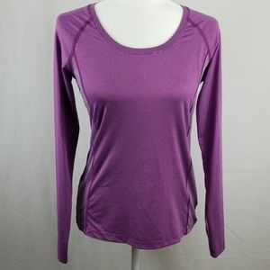 Columbia Long Sleeve Workout Pullover Purple Top